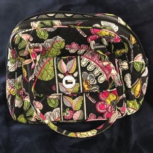 Vera Bradley Turnlock Satchel in Moon Blooms